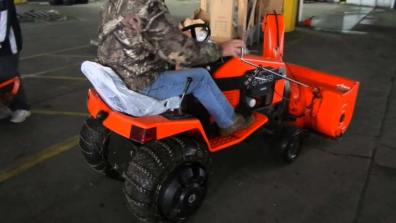 Ariens Tractor With Snow Blower Attachment YouTube