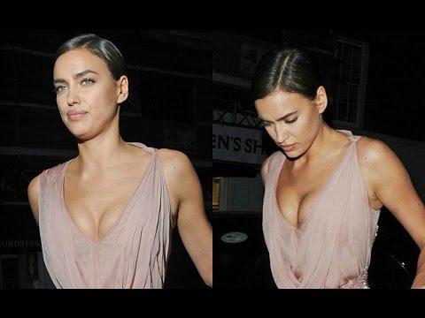 Irina Shayk Flaunts Her Cleavage thumbnail