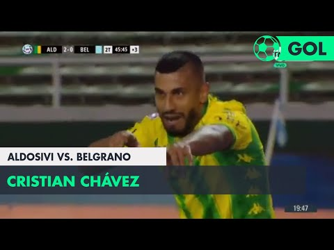 Cristian Chávez (2-0) Aldosivi vs Belgrano | Fecha 6 - Superliga Argentina 2018/2019