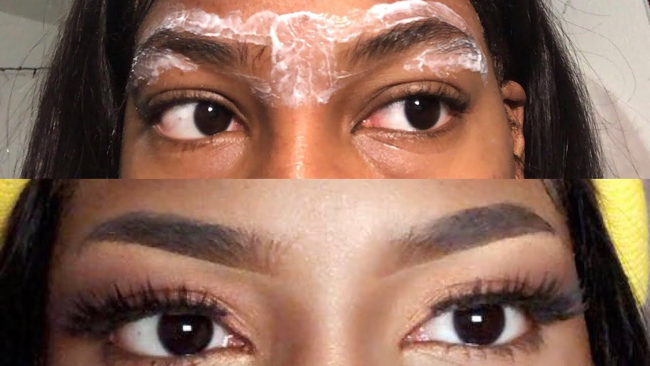 How To Arch Your Eyebrows Using Nair And Tweezers Youtube