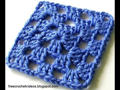 Classic Granny Square In One Color Youtube