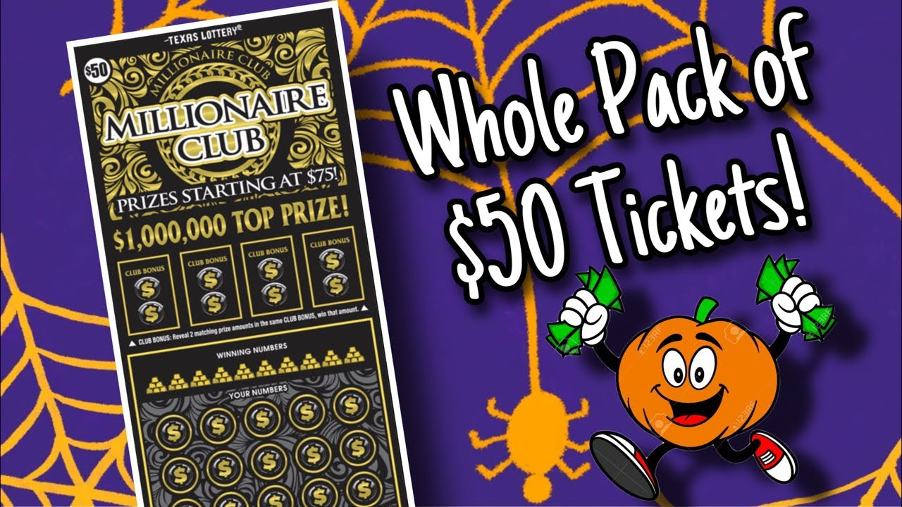 $50 Millionaire Club Texas Lottery Scratch Off Tickets
