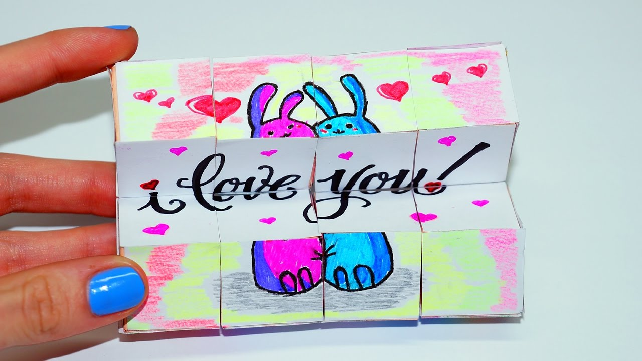 Diy Valentine S Day Gifts Ideas Magic Cube Transformer Easy Paper