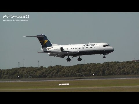 Alliance Airlines (Hybrid) Fokker 70 | Landing RWY 19 | Brisbane Airport