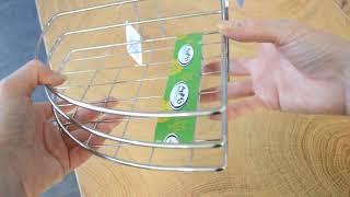 Обзор угловой полки-сетки для ванной комнаты Arino
