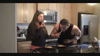 Bloopers Reel For The Making Of The Cinnamon Roll Pancake With Micah Lacerte/diana Chaloux