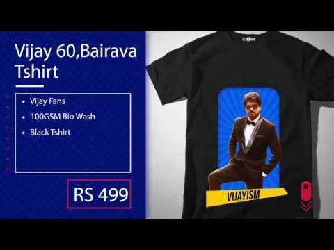 Bairava Movie T-shirts online | Vijay 60...