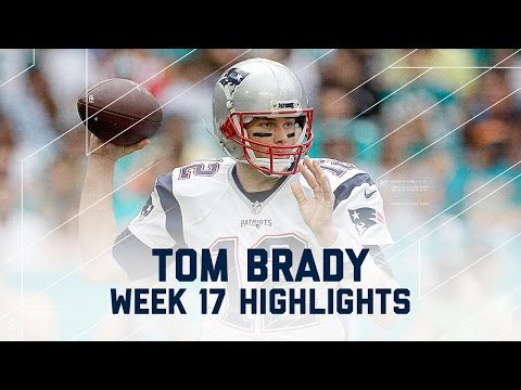 Tom Brady Tosses 3 TDs Against Miami | NFL Week 17 Player Highlights