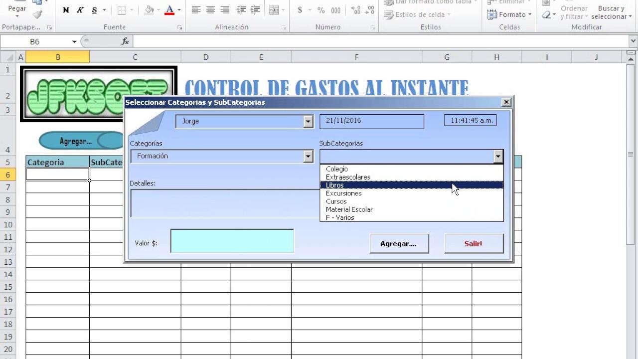 Plantilla para controlar los gastos al instante con informes por ...