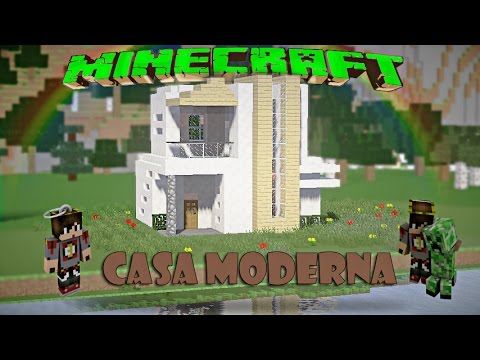Minecraft casa moderna de cuarzo facil tutorial 1 8 8 for Casa moderna facil minecraft tutorial