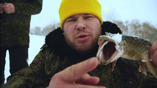 Щука порезала живца Зимняя рыбалка на жерлицы и мормышку Свиная грудинка в казане