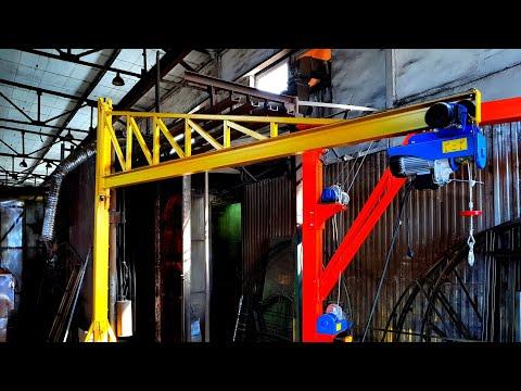 Консольный кран самодельный 400 кг для рыбзавода