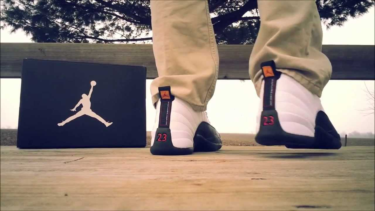 the best attitude 96dfa 003e7 Air Jordan Retro 12 Taxis White and Black REVIEW   ON FEET - YouTube