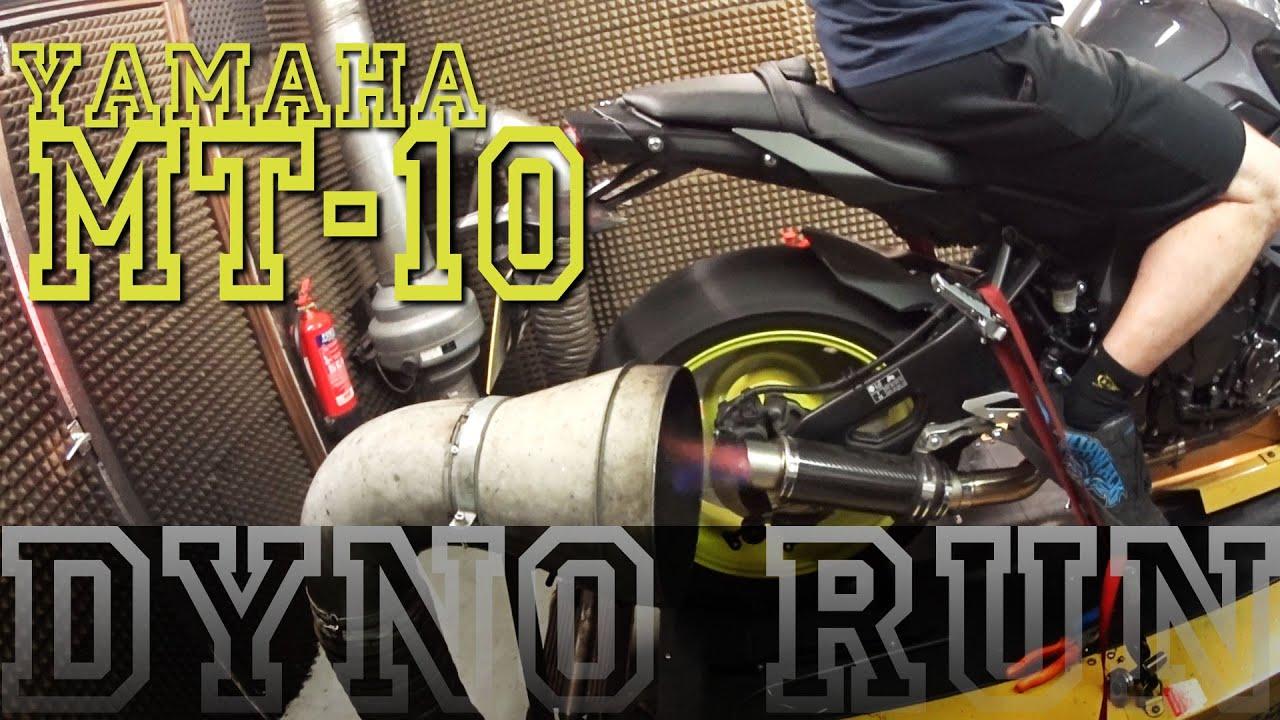 2016 Yamaha MT-10 Dyno Run – SP Engineering MotoGP 2 can & Y-piece. - YouTube