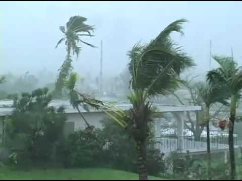 Typhoon Pongsona Slams Guam - YouTube
