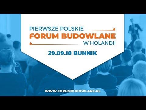 Pierwsze Polskie Forum Budowlane w Holandii - Bunnik 29.09.18 - Zapraszamy