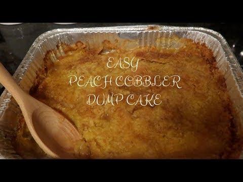 EASY PEACH COBBLER DUMP CAKE / TAMAR BRAXTON RECIPE