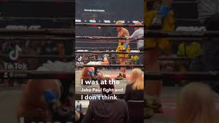 Was the Jake Paul fight rigged? #shorts