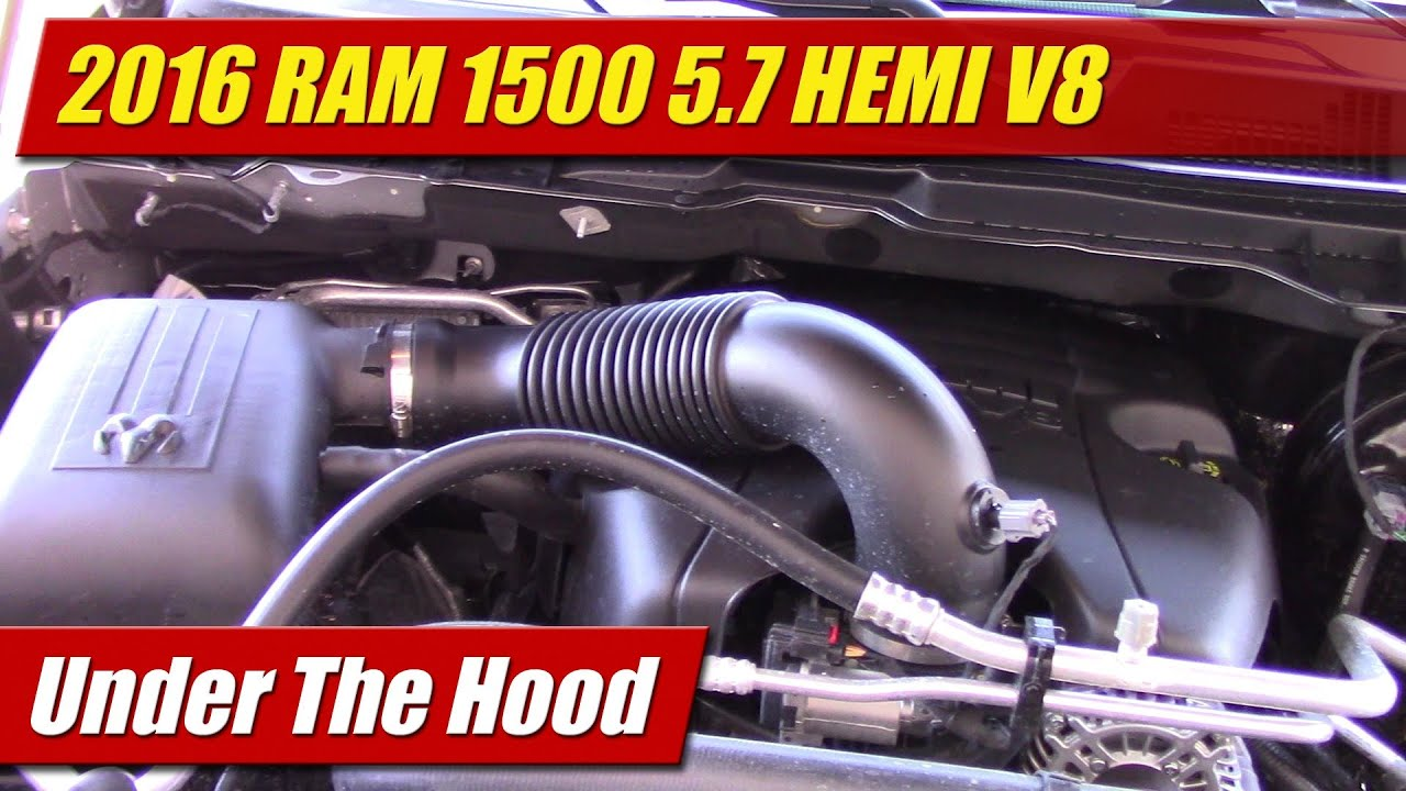 Under The Hood 2016 Ram 1500 5 7 Hemi V8 Youtube