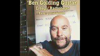 Creep by Radiohead - Beginners chords guitar tutorial