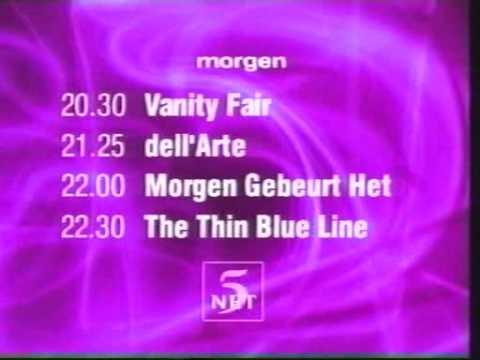 Net5 programmaoverzicht morgen (4-3-1999)