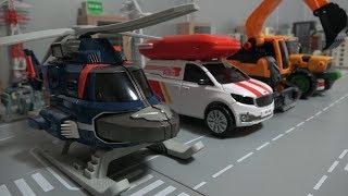 또봇 헬기 굴삭기 트랙터 배달트럭 로봇 장난감 변신 Tobot Helicopter Excavator Tractor Post Truck Robot Toys