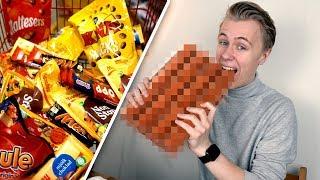 Smälter 100 chokladbitar till en stor