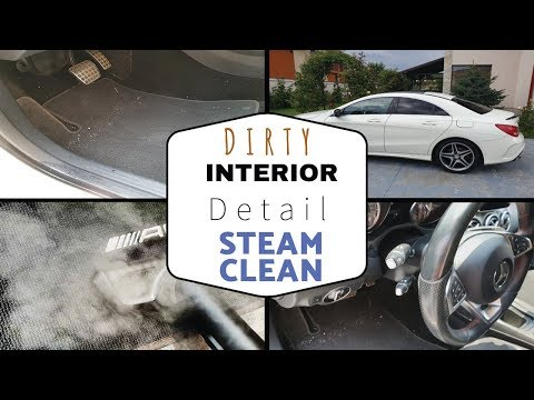 Cleaning The Dirtiest Car Ever! Mercedes CLA AMG Steam Cleaning