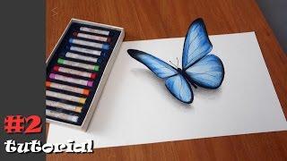Как нарисовать бабочку в 3d. Иллюзия объема БЕЗ КАМЕРЫ и под любыми углами!!!(Обучающий урок - как нарисовать 3д рисунок бабочки на бумаге. В данном видео-туториале я подробно объясню..., 2016-10-16T08:52:42.000Z)