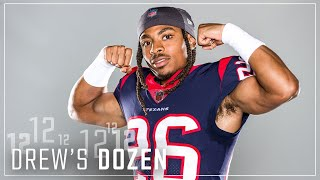 Vernon Hargreaves' Ideal Texans 4x100 Meter Relay Team, Pre-Game Playlist Musts, MORE   Drew's Dozen