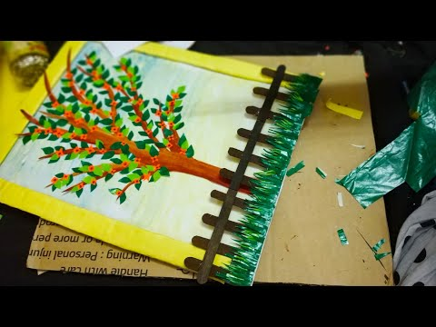DIY Handmade Garden Scenery using Papers nd Ice Cream Stick|| Easy Art and Craft|| #tulikajagga