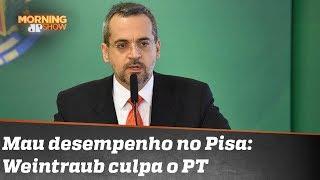 Abraham Weintraub culpa o PT por mau desempenho do Brasil em avaliação de estudantes