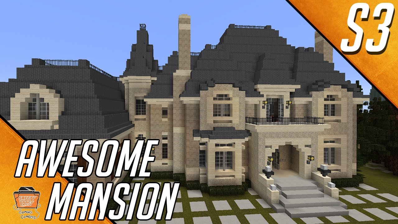 let 39 s build a mansion part 2 in minecraft house 7 s3 houses youtube. Black Bedroom Furniture Sets. Home Design Ideas