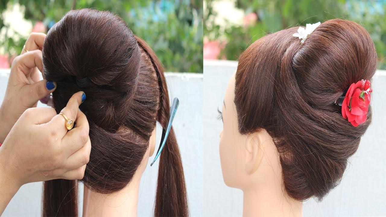 latest bun hairstyle for summer || summer juda hairstyle || new hairstyle || easy hairstyles ...