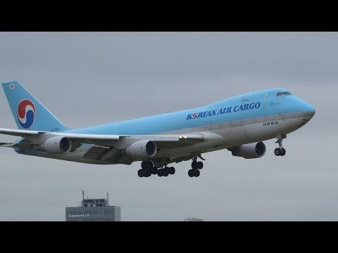 +20 Min Of Strong Crosswind (47 knots) Landings RWY 27/18R, Schiphol Airport