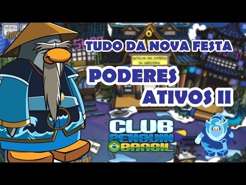 LANÇAMENTO DA NOVA FESTA DO PODERES ATIVOS II - Club Penguin Brasil