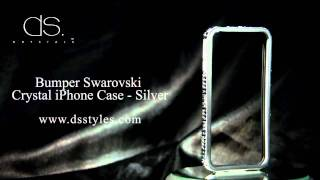 DSstyles Limited Edition Bumper Swarovski Crystal iPhone Case - Silver Thumbnail