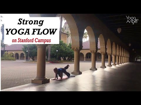 Strong Yoga Flow • on Stanford Campus • Yoga with Angie