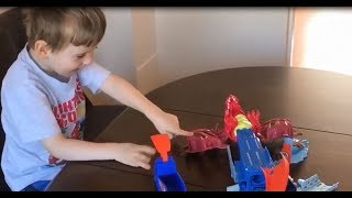 Carson Playing With Hot Wheels Dragon Blast Playset