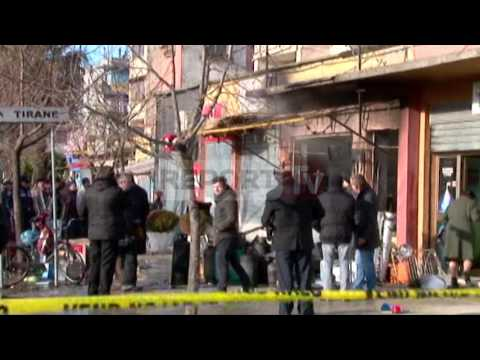 Report TV - Shkodër, shpërthen bombola e gazit në një dyqan, s'ka të lënduar