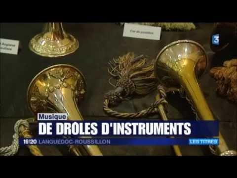 Une expo dans le vent reportage France 3 instrument de musique ophicléide carnyx saxhorn trombone