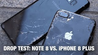 iPhone 8 Plus vs. Galaxy Note 8 - DROP TEST + IPhone prank