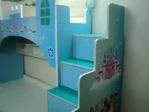 CASTLE THEMES GIRLS BUNK BED . KIDS FURNITURE MUMBAI : 09967823482 ...