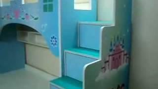 Castle Themes Girls Bunk Bed . Kids Furniture Mumbai : 09967823482
