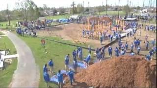 Playground Build Timelapse - Directv And Kaboom! In Jefferson Parish, Louisiana