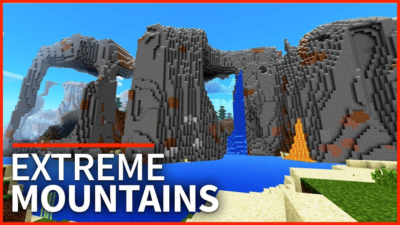 Minecraft PE Seeds - TOP 3 EXTREME HILLS SEEDS - Best Mountain Seeds for  1 2 // MCPE, Xbox, W10