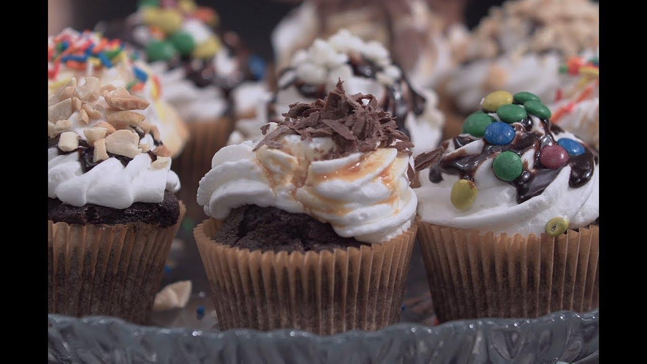 كب كيك الشوكولاتة البسيط الشيف سارة | سارة عبد السلام | سنة اولي طبخ PNC FOOD