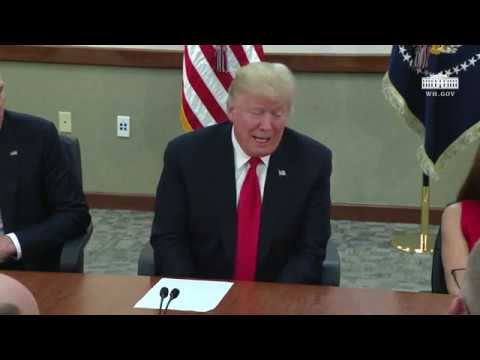 President Trump Participates in a Defense Roundtable