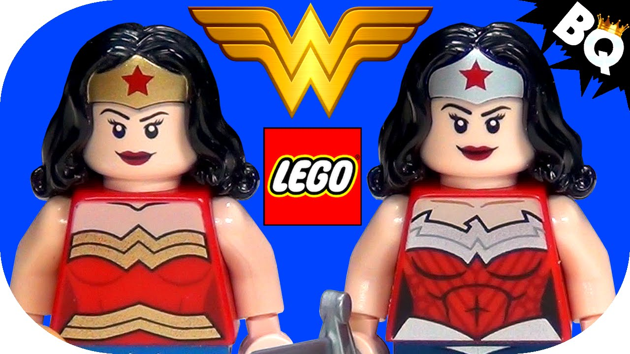 lego wonder woman dc super heroes minifigure comparison youtube