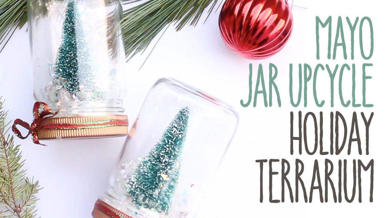 Primal Kitchen Mayo Jar Upcycle Holiday Terrarium Youtube